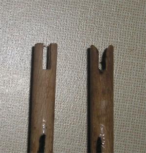 Dřevěné končíky